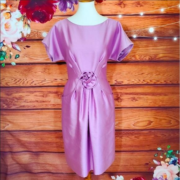 Kate Spade Silk Lilac Rosette Dress